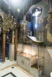 在Katholiki Ekklisia玛丽亚Kremasti罗得岛里面的教堂 库存照片