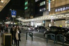 在Kawaramachi的现代街道在京都日本 库存图片