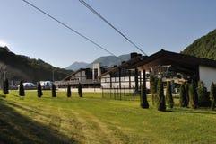 在Kazkaz山的风景 免版税库存图片