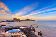 在Ke Ga海滩的日出在越南 免版税库存照片