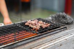 在kebab的火炉 免版税库存图片