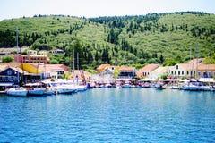 在Kefalonia海岛上的Fiscardo  免版税图库摄影