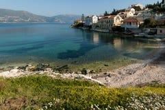 在Kefalonia的海滩,希腊 库存照片