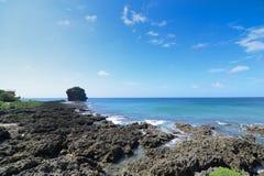 在kenting的全国公园台湾航行岩石 库存图片