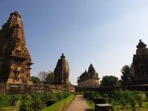 在khajuraho的风景 库存图片