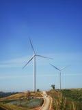 在KhaoKho的风轮机力量在Phetchabun,泰国 免版税库存照片