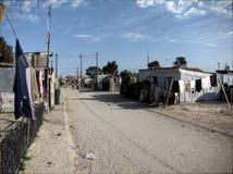 在Khayelitsha的街道 库存照片