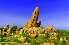 在Khe Ga灯塔附近的石头。 免版税库存照片