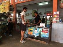 在Kho张,泰国的汽车站 免版税库存图片
