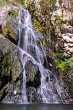 在Khun Sathan国家公园的模糊的软的小的水秋天,泰国 库存照片