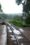 在Khwae河的死亡铁路 库存图片