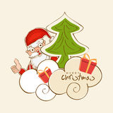 在kiddish样式的圣诞快乐庆祝 库存例证