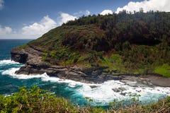 在Kilauea点的海湾 免版税库存图片
