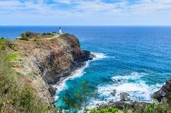 在Kilauea点的灯塔 免版税库存照片
