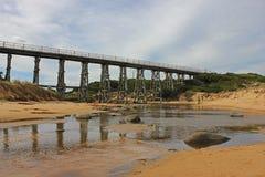 在Kilcunda海滩的叉架桥 图库摄影
