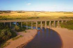 在Kilcunda,维多利亚的桥梁 免版税库存照片