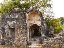 在Kilwa Kisivani的老清真寺废墟 库存照片