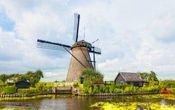 在Kinderdijk的风车,荷兰 库存图片