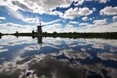 在Kinderdijk的风车 库存图片