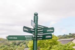 在Kirstenbosch的路标 库存照片