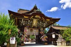在Kitano Tenjin寺庙,京都日本的Tanabata节日 图库摄影