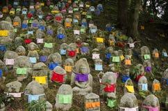 在Kiyomizu寺庙的菩萨雕象在京都,日本 免版税库存照片