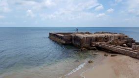 在KKS海滩的废墟 库存照片