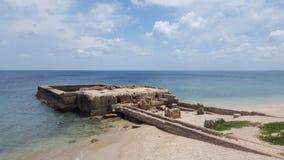 在KKS海滩的废墟 免版税库存图片