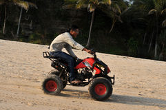 在Klayar海滩的Vacatin, Pacitan 库存照片