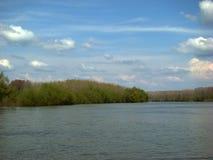 在km 96 2的春天胳膊Borcea 图库摄影