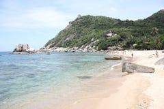 在Ko陶海岛,泰国上的海滩 免版税库存照片