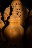 在Ko Kret的泰国样式陶器Nonthaburi省的,泰国 免版税库存照片