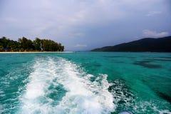 在KO LIPE的日出海滩国家公园11月2014年, Tarutao 免版税库存照片