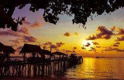 在Ko Samet海岛的日出 免版税库存照片
