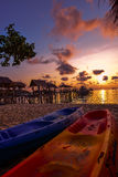 在Ko Samet海岛的日出 免版税库存图片