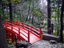 在Koishikawa后乐园的Tsutenkyo桥梁 免版税库存图片