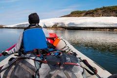 在Kokolik河,远北部的Riverexpedition在阿拉斯加 库存图片