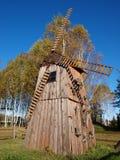 在Kolacze的风车,波兰 免版税库存图片