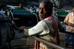 在Kolkata的人力车 免版税库存照片