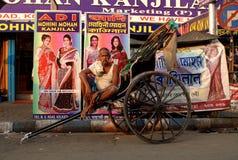 在Kolkata的人力车 免版税图库摄影
