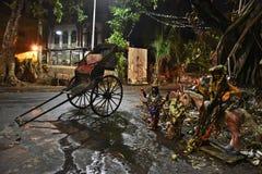 在Kolkata的人力车 库存照片
