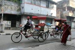 在Kolkata的人力车 免版税库存图片