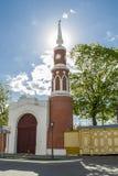 在Kolomna克里姆林宫的塔在日落 库存图片