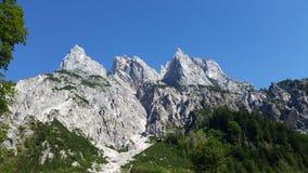 在Konigsee,德国上的山 免版税库存照片