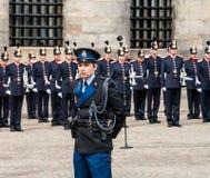在Koninginnedag的皇家卫兵2013年 库存照片