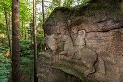 在Kopicuv statek附近的岩石安心 免版税库存照片