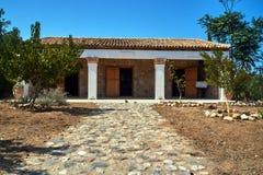 在Kos海岛上的传统农舍  免版税库存图片