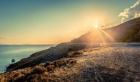 在Kos海岛的日落 免版税图库摄影