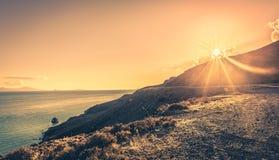 在Kos海岛的日落 免版税库存图片