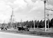 在Kotelnicheskaya码头的莫斯科高层建筑物1962年 免版税库存照片